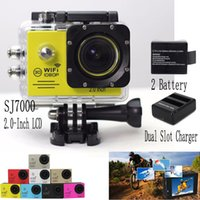 battery charger camping - SJ7000 GoPro Hero Waterproof Sport DV HD Camera Camcorder Gopro Style Novatek P CAR DVR Battery Dual Slot Charger