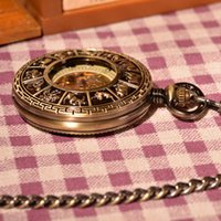 antique chinese clocks - Bronze Vine Antique Men Pocket Watch Bronze Mechanical Hand Wind Pocket Watch Clock Chinese Zodiac Traditional Pendant