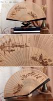 Wholesale Wang Xingji Ladies fan sandalwood ebony wood handle China wind hollowed out women s archaic gift box fan