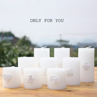 Pillar beeswax aromatherapy candles - 2015 Romantic Heart shape reliefs The candle european style wedding decoration birthday candle wedding candle optional size