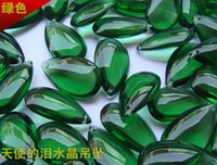 Wholesale Price mm Green Zircon Color Crystal Glass Lamp Prism Parts For Home Decoration Chandelier