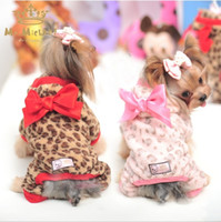bb pet - Hug Me New Dog Apparel Pets Supplies Winter Leopard Japanese Kimono Big Bowknot Flower Dogs Doggy Doggie Hooded Apparel Xmas Gift BB