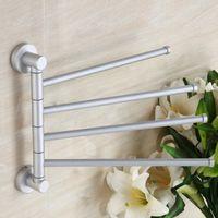 Wholesale High Quality Bathroom Kitchen Alloy Rotating Towel Holder Movable Rod Towel Bar Belt Towel Rack Bathroom Accessories BHU2