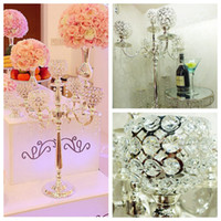 ball candle suppliers - Hot Selling Luxurious cm Silver Home Candelabra Crystal Ball Weddings Flowers Holders Suppliers Candle Holders Centerpiece Candelabrum