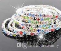 al por mayor pulseras de diamantes con descuento-CZ brazaletes de diamantes para la venta de plata de cristal pulseras elásticas coloridos brazaletes de brazalete para las mujeres de plata joyas al por mayor de descuento - 0001GXB