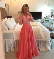 silk dress shirt - cheap high quality Evening Gowns With Long Sleeves Lace Beaded Evening Dresses A Line Party Dress Beaded Long Prom Dresses Party Evenin