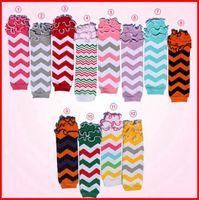 adult ruffle socks - Retail baby girls cute ruffle chevron leg warmers children cotton leg warmers lace wave socks adult arm warmers pairs Melee