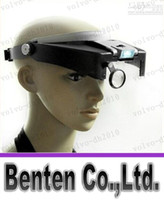 Wholesale LLFA7701 X Lighted Magnifying Glass Headset Dual LED Head Headband Magnifier Loupe Magnifying Lamps