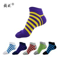 cotton five toe socks - New Men s Socks Cotton Meias Sports Five Finger Socks Toe Socks For EU Calcetines Ankle Sok OM