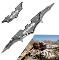 batman blades - New Batman Folding Knife survival knife camping knife pocket knife Black And Red Double edged
