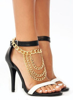 anchor jewellry - Sexy Tassel Anklets Gold Silver Foot Chains High Heels SLAVE ANKLE High heeled Shoes Accessories Multilayer Heavy Metal Anklet Body Jewellry