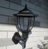 IP65 yard fence - Solar Power Wall Light Fence Hexagon LED Outdoor Lighting Powered Yard Garden Black lamps dandys