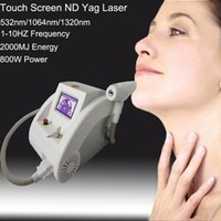 Wholesale 1000W Touch Screen Q switch nd yag laser machine tattoo removal skin rejuvenation birth mark removal