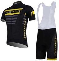 Cheap short livestrong Tour de France cycling team Bike Bicycle Wear clothes Cycling short jersey+Bib Shorts sets suits