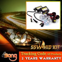 Wholesale Xenon HID Single Beam DC Kit Car Auto Headlight Slim Ballast W H1 H3 H4 H7 H8 H9 H10 H11 H13 Bulbs All Color