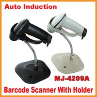 Wholesale 1D Bar code Scanner Laser MJ A Auto Sence Induction Barcode Scanner Support RS232 PS2 USB Barcode Scanner With Stand Holder