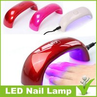 Wholesale Free DHL w Cute Nail Art Gel Nail Lamp Led UV Light Dryer Nail Finger Dry Mini LED Nail Lamp hot Nail dryer Fashionable