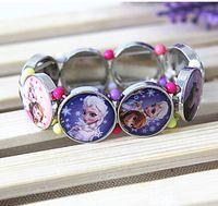 Wholesale 2015 new high quality frozen stretch bracelet handmade bracelet for children birthday Christmas gift