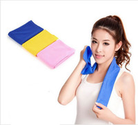 Wholesale Newest Creative Cold Towel Exercise Sweat Summer Ice Towel cm Sports Ice Cool Towel Hypothermia Cooling Towel DHL