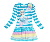 Cheap Girls Fall Dresses Kids clothing fall frozen elsa
