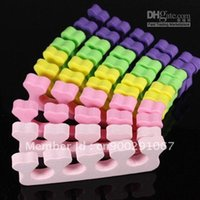 acrylic toe nail - 500pcs Random Color Heart Soft Form Finger Toe Separator Acrylic Nail Art Salon Manicure Pedic