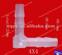 Wholesale 4X4 plastic quick elbow joint plastic elbow fittings for water supply hose connector tube fittings