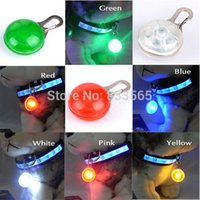 Wholesale NEW Puppy Pets Dog Cat LED Collar Light Flashing Collars For Dogs Tag Safety Nylon Night Light Pendant Pet Products For Animals