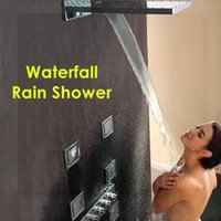 Wholesale Luxury Classic Solid Brass Concealed Bathroom Shower faucet waterfall rain shower transparent