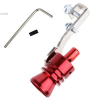Wholesale High quality New Universal Car Turbo Sound Whistle Exhaust Muffler Simulator Pipe Blow Off Valve L Red b8