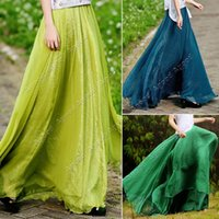 Cheap women Chiffon Long Skirt Best women Long Maxi Dress