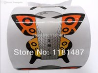 beautiful nail extensions - beautiful design butterfly roll large zise Art Nails Extension Forms