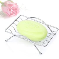 Wholesale Hot Sale Piece Fashion Brief Stainless Steel Bathroom Soap Dishes Box Holder Tray