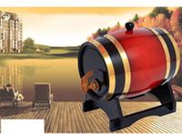 Wholesale LYellow Decoration Barrel Art crafts Wine accessories Brewed Wine Oak Barrel Hotsale Best Gift