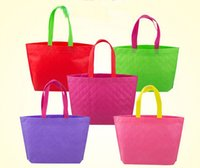 plain clothing - New REUSABLE SHOPPING GROCERY BEACH NON WOVEN TOTE Rhombus BAG Clothes Package Bag