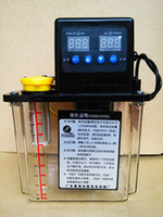 Wholesale 1 Liters Auto Lubrication Pump V dual Digital Electronic Timer pressure gauge optional oil pump for cnc router