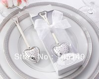 best shower doors - Wedding door gift Heart Tea Infuser in Elegant White Gift Box Best For bridal shower wedding giveaways Freeshipping