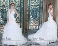 Trumpet/Mermaid Model Pictures 2015 Spring Summer 2015 Real Photos Wedding Dresses Mermaid Sheer Neck Backless Appliques Beads Pleats Ruffles Court Train Wedding Gowns Bridal Dresses Dhyz