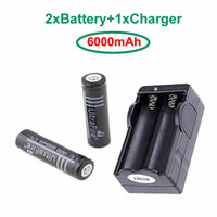 Wholesale NEW A pair Ultrafire Red Battery mAh V Rechargeable Li lon Battery Travel Battery Charger