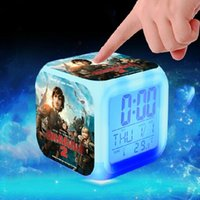 Wholesale New Christmas Gifts Anime Train Your Dragon Glowing LED Colorful Change Digital Alarm Clock Night Light For Kids Birthday Supplies