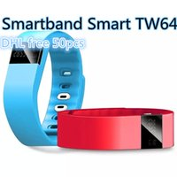 Wholesale High quality Tw64 Smartband Smart bracelet Wristband Fitness tracker Bluetooth fitbit flex Watch for ios android