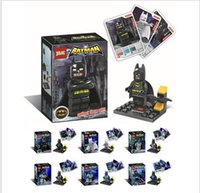 bats plastic dolls - Batman six blocks with card BAT Man puzzle blocks doll Stationery supplies To report Purchasing this product belongs to the commercial trade
