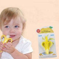Wholesale Cheapest High Quality And Environmentally Safe Baby Teether Teething Ring Banana Silicone Toothbrush