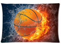 Wholesale Fire basketball Custom Best Decorative Cool Skull Throw Pillow Cases Standard For Size x75 cm Two sides U2