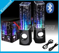Cheap Dancing Water Speaker Active Portable Mini USB LED Light Speaker For iphone ipad PC MP3 MP4 PSP DHL Free LY