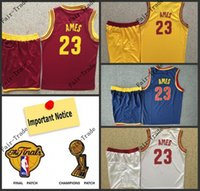 Baseball lebron james jersey - 2015 New Arrivals Hot Items lebron James Cleveland Jerseys shorts set blue white red yellow size S XL Accept Mix order