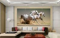 Cheap handmade canvas painting Modern Chinese Home Decoration Horse Racing oil painting quadros de parede sala estar 3 panel wall art