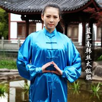 Wholesale selling Nan Hansi tai chi clothing men s and women s clothes and a long sleeved breathable martial arts fitness service