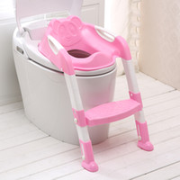 baby child seat toilet - Baby Potty Seat With Ladder Children Toilet Seat Cover Kids Toilet Folding Infant Potty Chair Training Toilet Kids Portable Pinico Troninho