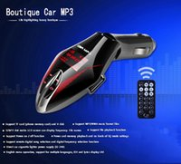 Wholesale Car MP3 Player Wireless MP3 FM Transmitter Modulator Music Player USB TF UP TO G SD MMC LCD With Remote Controller