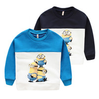 ageing spelling - Children Boys Spell Color Cotton Fleece For Autumn New Arrival Print Cartoon Yellow Little People Fit Age Kids CD05